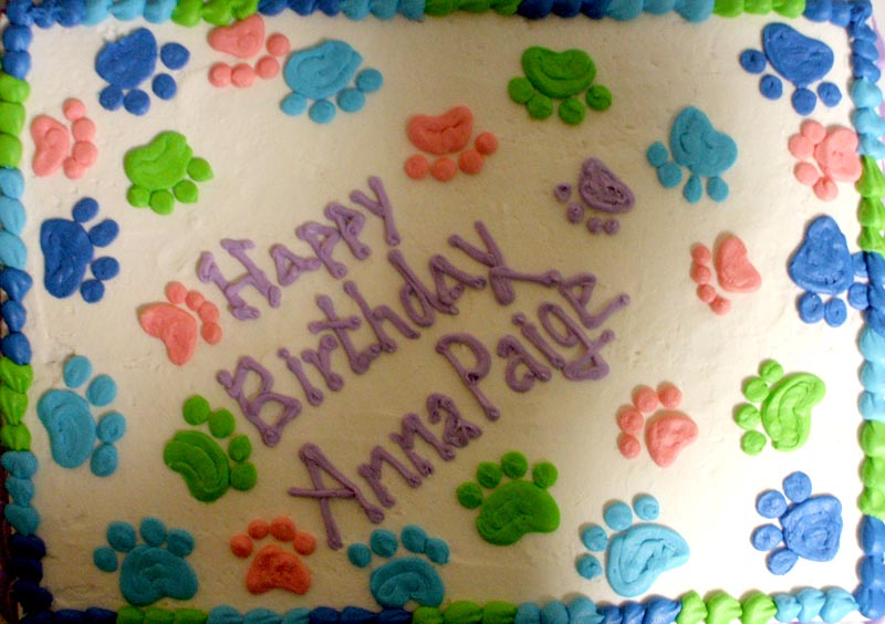 Pawprints: Sheet Cake Prints At Alzheimers-prions.com